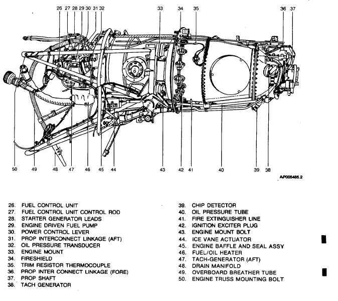 pt6 engine parts diagram