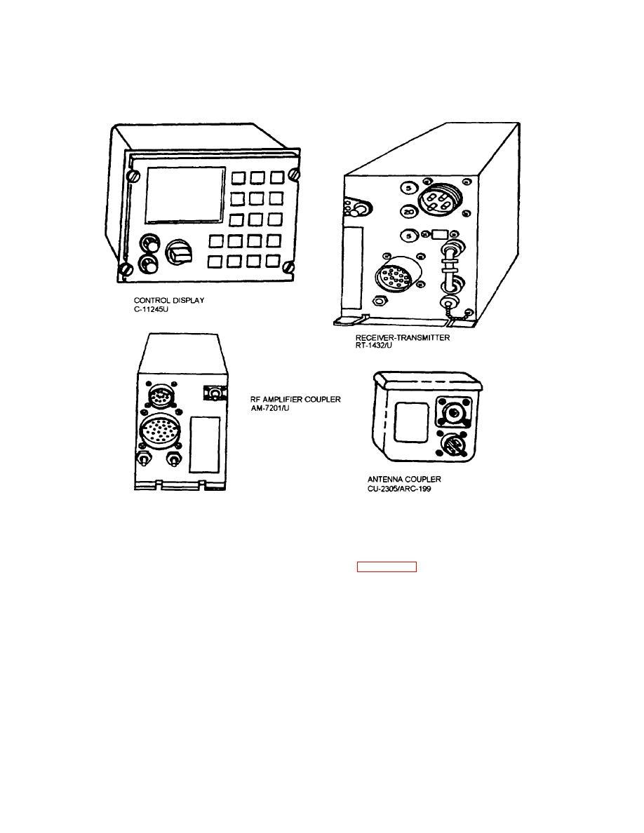 An Arc 199 Hf Radio Set Components