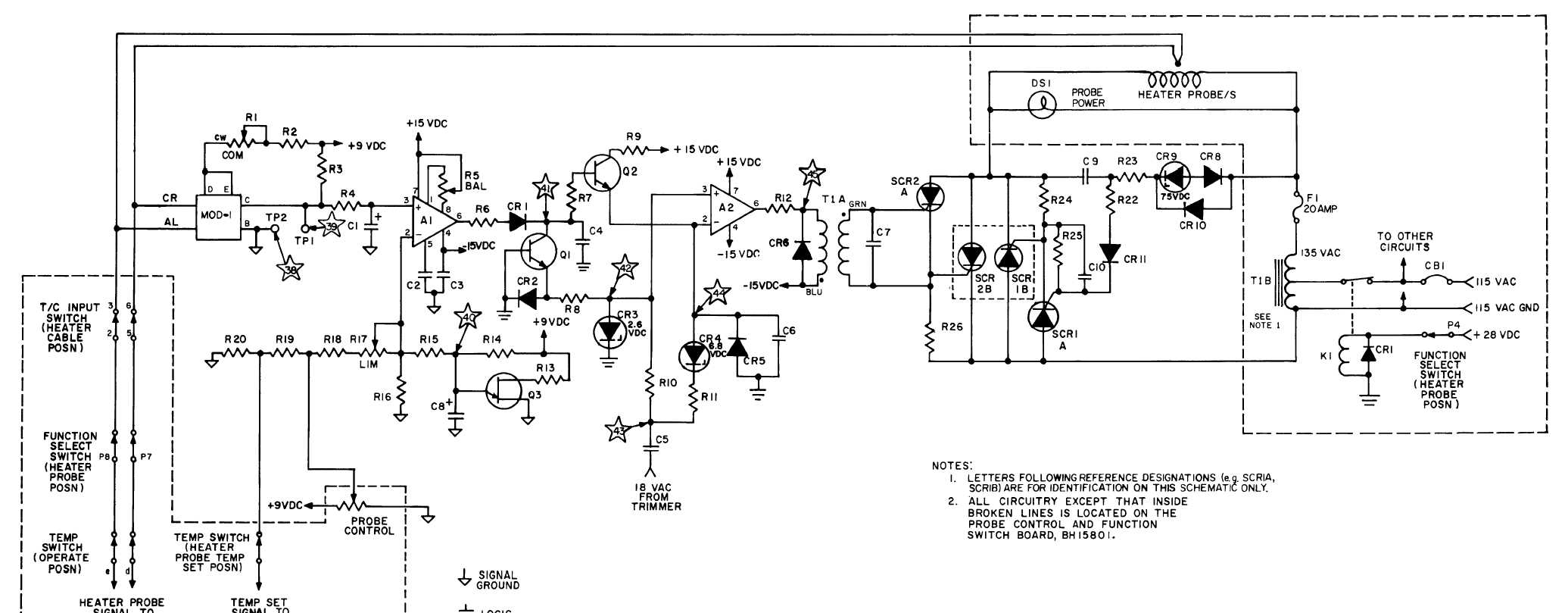 Schematic Diagram of Heater Probe Control Circuit